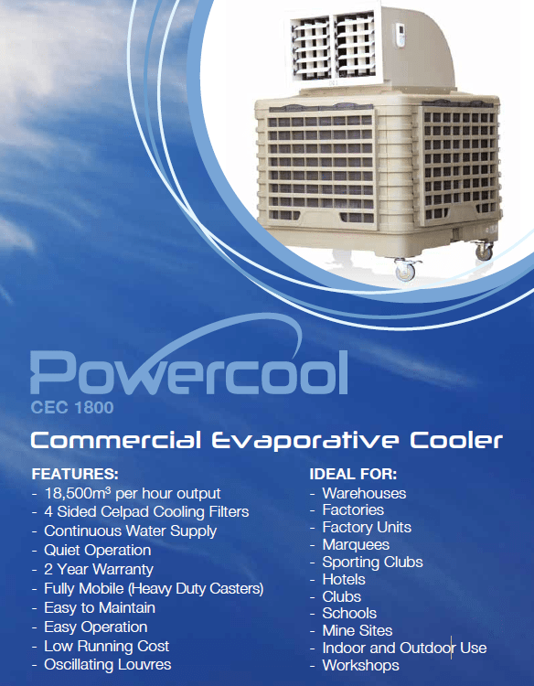Excelair Powercool Cec1800 Commercial Portable Cooler