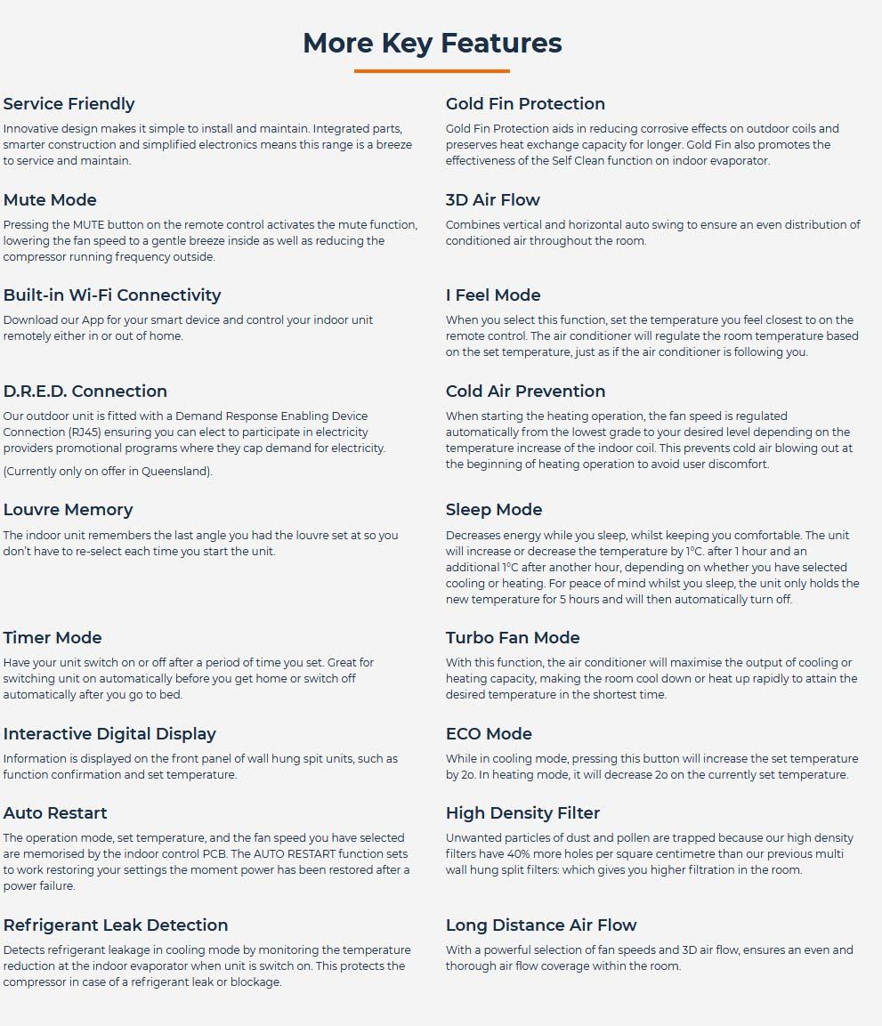 TECO - TWS-TSO25HVGT Features